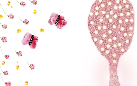 vintages: flower backgrounds ,butterflies & lamp pink tree.