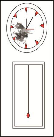 ヴィンテージを時計します。ベクトルの図。