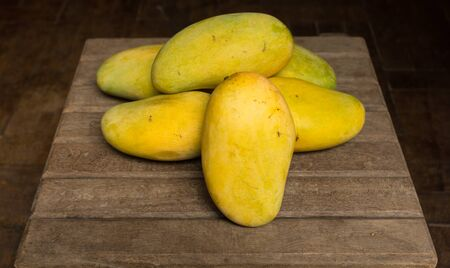 linn: Sweet mango Mangifera indica Linn Stock Photo