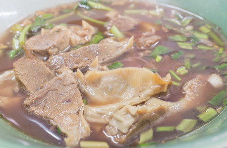 fricassee: Slow cooked herbal pork with special blood soup. Stock Photo