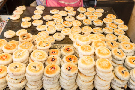 danish puff pastry: Thailand street food - Thai Pastry Stock Photo