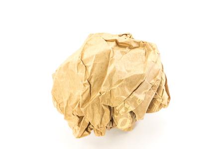 crumple: Paper crumple in ball Stock Photo