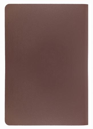 pasaporte: pasaporte marrón en blanco en antecedentes aislados. Foto de archivo