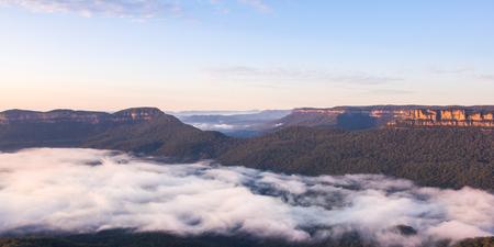 echo: Landscape at echo point, Blue mountain national park, Australia.