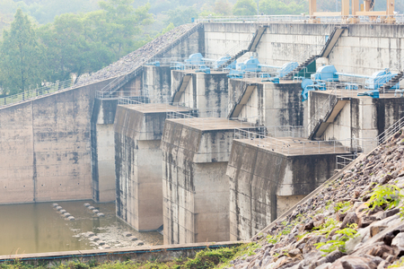 electric current: Concrete dam made for water and electric current supply.