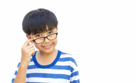 approximate: Boy with thinking Stock Photo