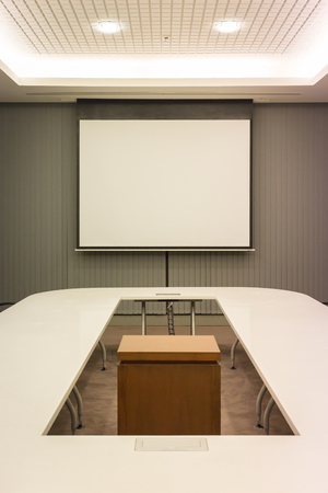 commercial law: Business conference room in office.