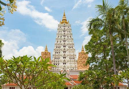 bodhgaya: Bodhgaya temple with blue sky.