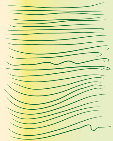 Various commas on yellow-green background with gradient pattern.
