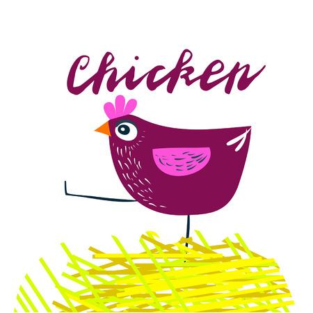 Iscriviti pollo e animazione isolato su sfondo, icona simbolo per il tuo sito web design, icona, poster. Illustrazione vettoriale.