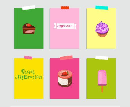 Sign: celebration. Vector illustration of bright color background with flower, sign, 40, minimal dynamic cover design. Poster template, celebration card, invitation card. Illustration