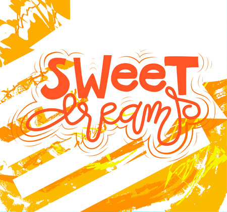 Sign Sweet dreams, icon for your web, label, icon, dynamic design. Hand drawn art elements. Vector Illustration.
