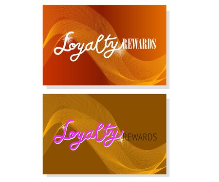 Loyalty rewards voucher or business card template. Abstract design. Vector.