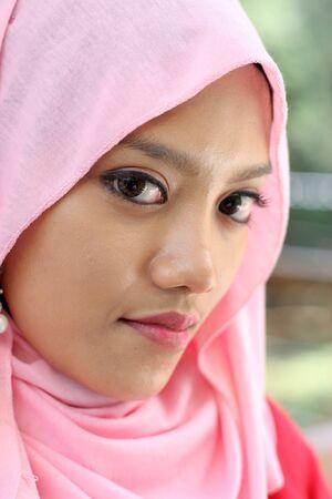 close up potraits of beautiful muslim girl