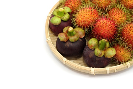 Asian tropical fruits photo