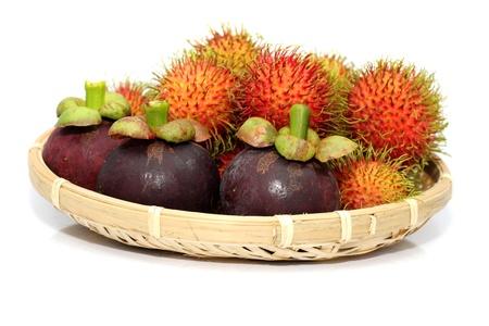 rambutan: Tropical Fruit-Rambutan and Mangosteen fruit