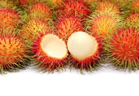 rambutan: Tropical fruit - close up Rambutan fruit