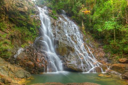 pahang: Seri Mahkota Endau Rompin Pahang waterfall, Malaysia in HDR