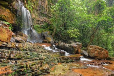 pahang: Seri Mahkota Endau Rompin Pahang waterfall,Malaysia in HDR Stock Photo