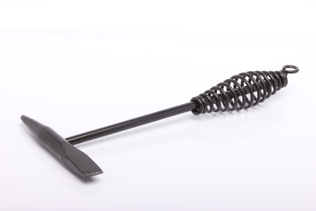 hardware tools: Chipping hammer isolated on a white background