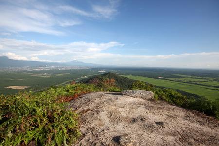 The views from Mount Semanggol highest peak in Semanggol,Perak, Malaysia. Stock Photo