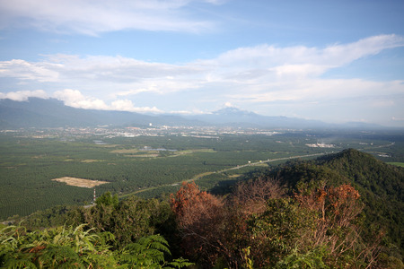 Panorama of Taiping city from Mount Semanggol highest peak in Semanggol,Perak, Malaysia