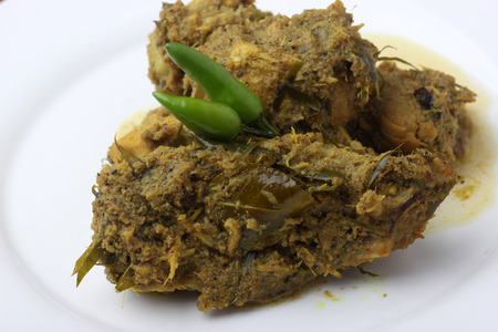 Chicken(Ayam) rendang with green chilli