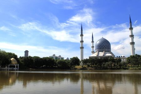 shah: Masjid Negeri, a mosque located in Shah Alam,Malaysia