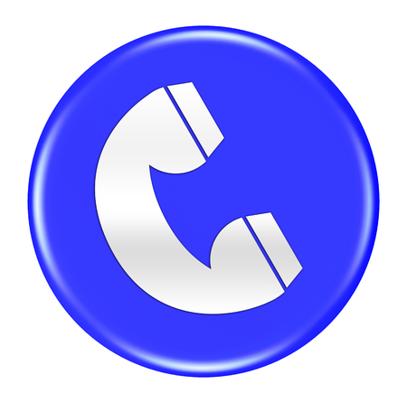 phone button: phone button isolated