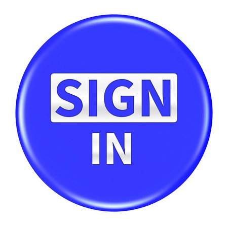 sign in: sign in button isolated Stock Photo