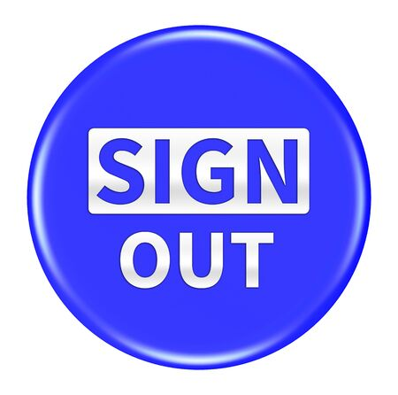 sign out: sign out button isolated