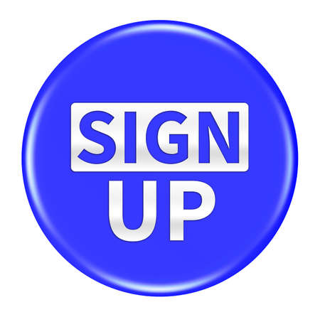 sign up button: sign up button isolated Stock Photo