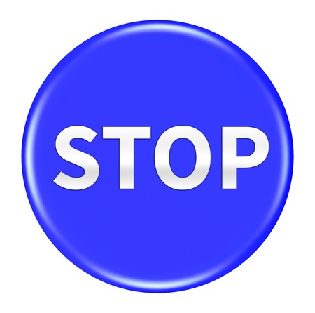 stop button: stop button isolated