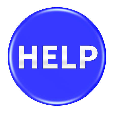 help button: Help button isolated Stock Photo