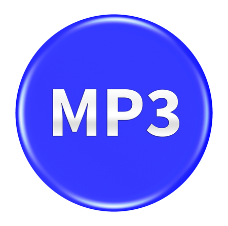 mp3: mp3 button isolated