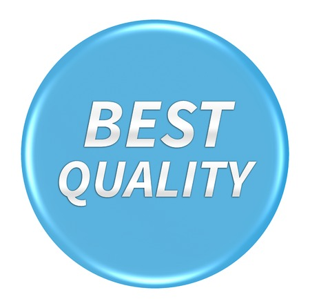 best quality: Best quality button isolated
