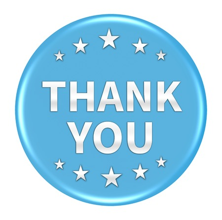 thank you button isolated Stock Photo