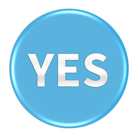 yes button: yes button isolated