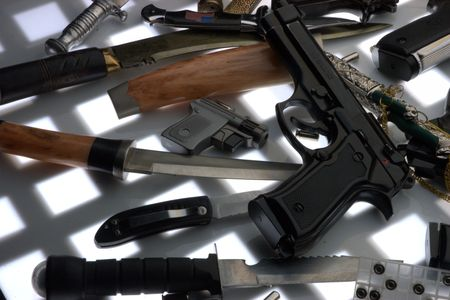 Guns close up