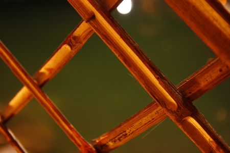 Bamboo wooden frame