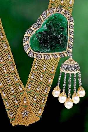 Gold jewelry Macro shot