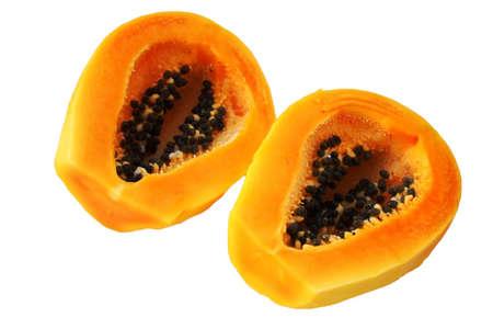 Geschnitten Reife Papaya