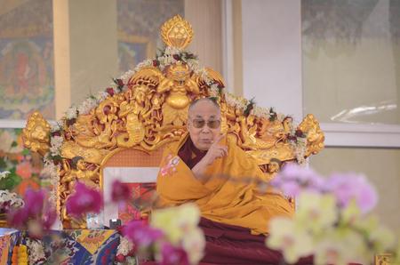 Bodhgaya, India, 05 Jan 2018-The Holiness 14th Dalai Lama addressed a gathering during the special teaching session at kalachakra ground in Bodhgaya. India.