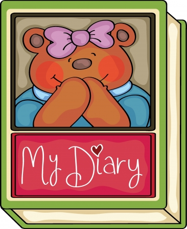 Teddy bear s diary Vector