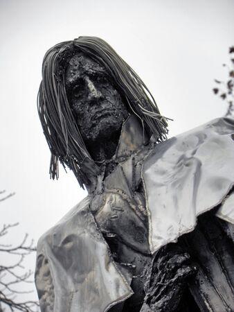 composer: Franz Liszt, famous composer, visiting Pecs, Hungary,sculpture Editorial