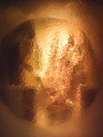 leopold: A handprint of St. Leopold Mandic, Padua, Italy. Stock Photo