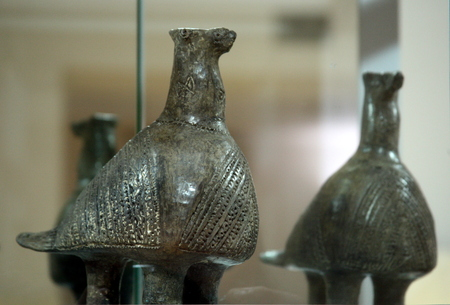 3rd ancient: Famous Vucedols pigeon, copper age, Vucedol, Croatia Editorial