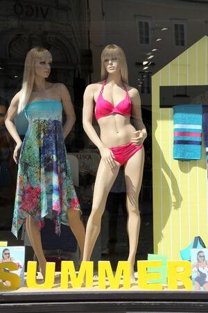 shop window: Summer shop window, Ljubljana, Slovenija Editorial