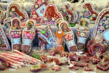 craftmanship: Koprivnicas Renaissance Festival 2015., historical mega specacle, Koprivnicas city walls, Croatia. Colourful naive painted candy. 8 Editorial