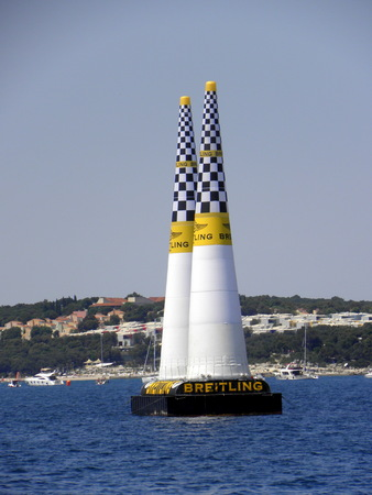 world championship: Red Bull Air Race, World championship, Rovinj, Croatia 2015. Pillons,doors. 3 Editorial